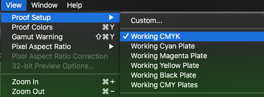 how to change an image to cmyk in photoshop